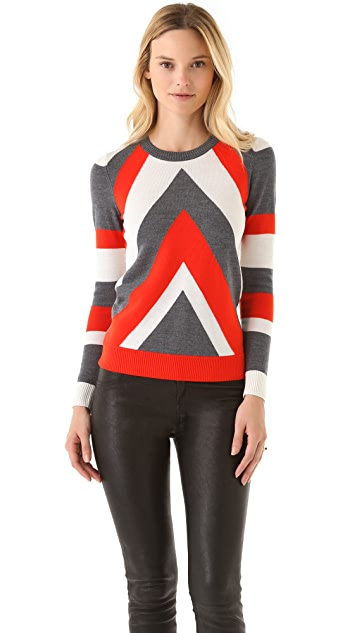 Milly Chevron Intarsia Sweater