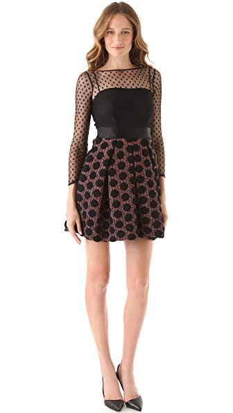 Milly Couture Lurex Dot Dress