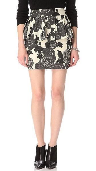 Milly Camellia Peplum Skirt