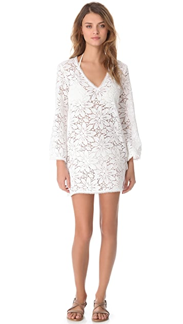 Milly Mykonos Crochet Tunic Cover Up