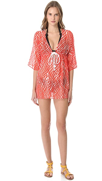 Milly Ava Drawstring Tunic Cover Up