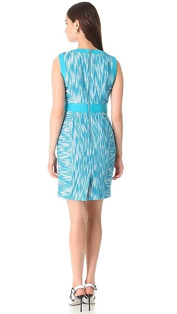 Milly Combo Trim Sheath Dress