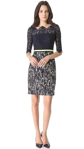 Milly Simone Combo Dress