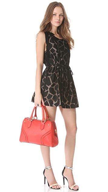 Milly Zoey Embossed Satchel