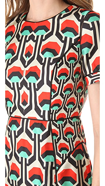 Milly Piped Sleeve Dress