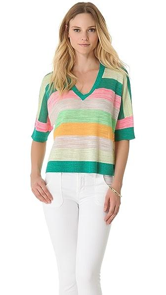 Milly Sabrina Striped Sweater