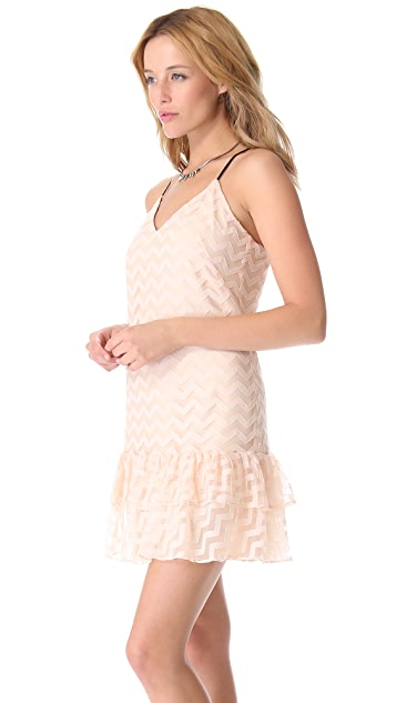 Milly Chevron Tulle Dress
