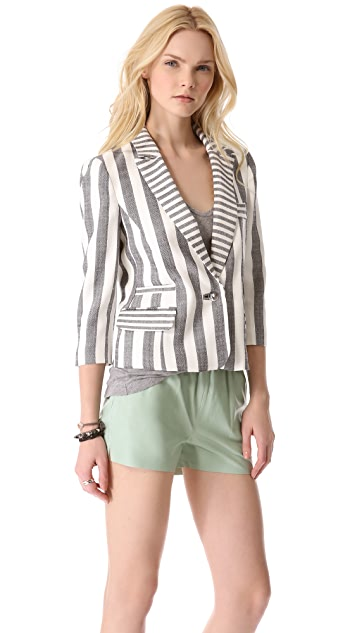 Milly Stripe Skinny Jacket