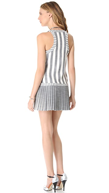 Milly Sarley Pleat Stripe Dress