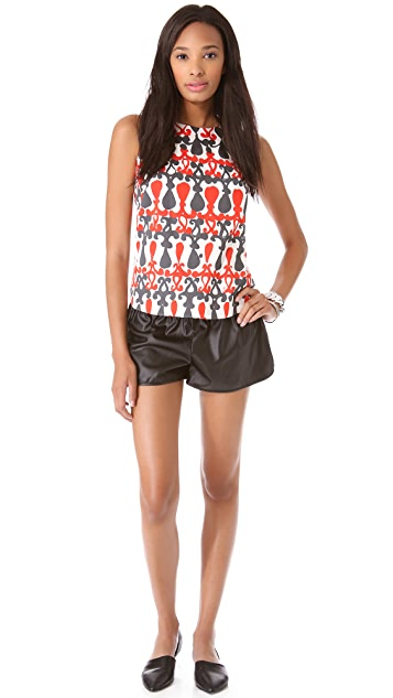 Milly Nina Sleeveless Shell Top