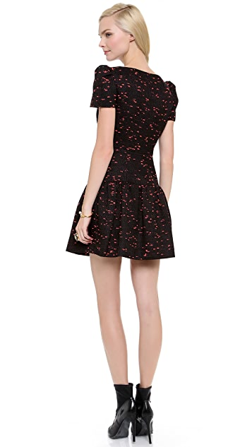 Milly Drop Waist Pouf Dress