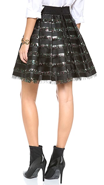 Milly Inverted Pleat Skirt