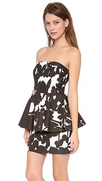 Milly Strapless Full Peplum Dress