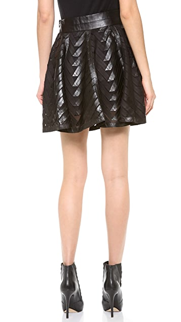 Milly Chevron Circle Skirt
