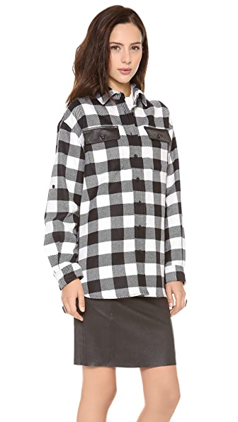 Milly Buffalo Check Shirt Jacket