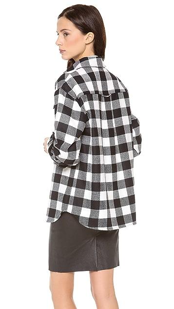 Milly Buffalo Check Shirt Jacket