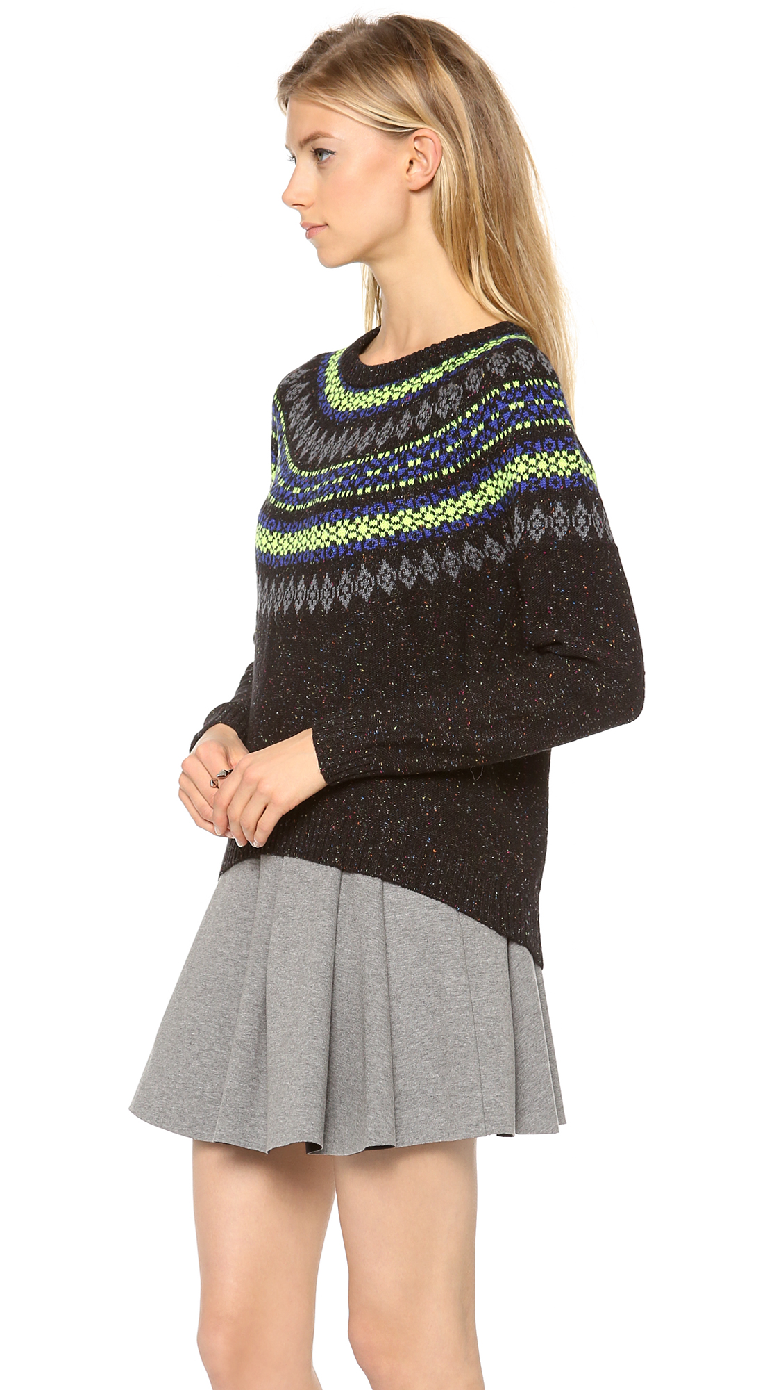 Milly Neon Fair Isle Sweater | SHOPBOP