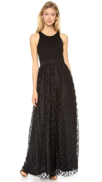 Milly Racer Lace Party Gown