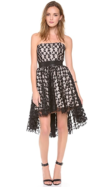 Milly Hi Low Strapless Dress