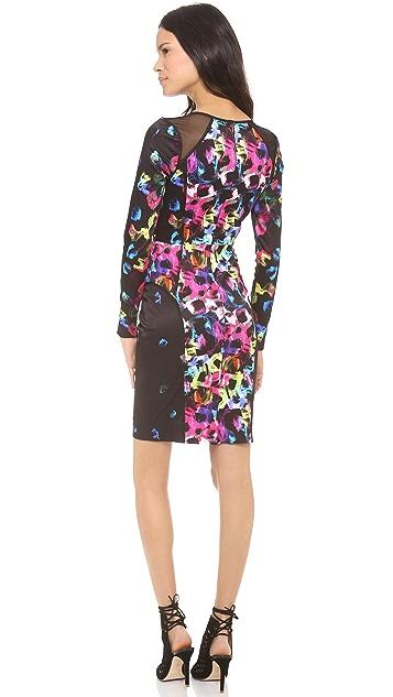 Milly Mesh Shoulder Detail Dress