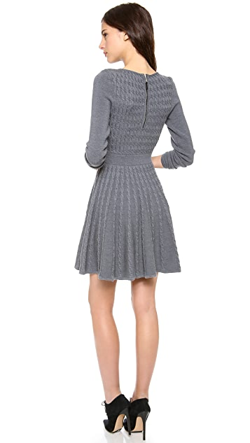 Milly Cable Fit and Flare Dress