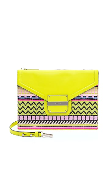 Milly Rich Jacquard Shoulder Bag