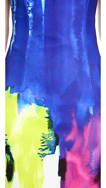 Milly Eva Strapless Sheath Dress