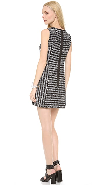 Milly Raw Edge Tweed Shift Dress
