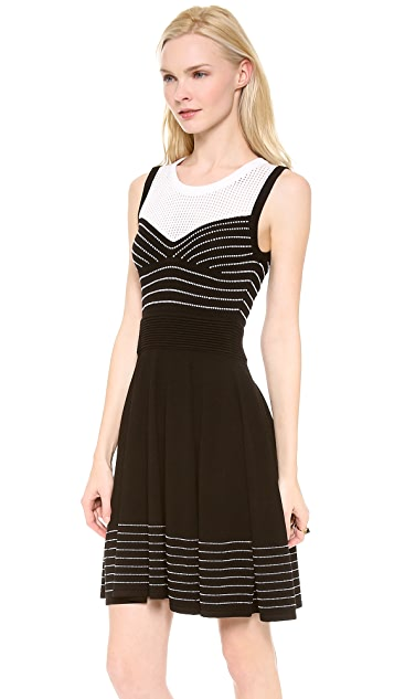 Milly Trompe l'Oeil Corsetry Dress