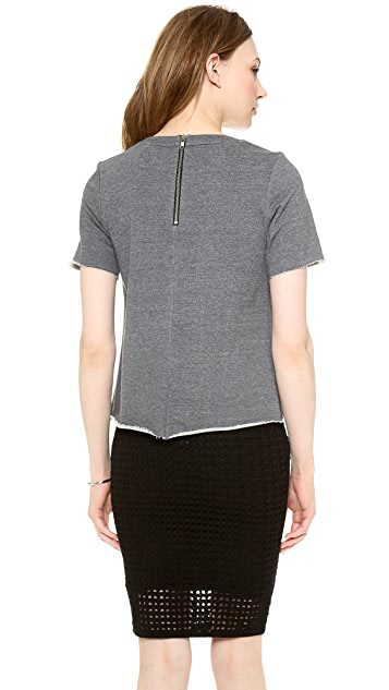 Milly Angular Zipper Tee