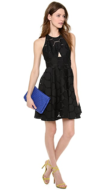 Milly Sheer Overlay Dress