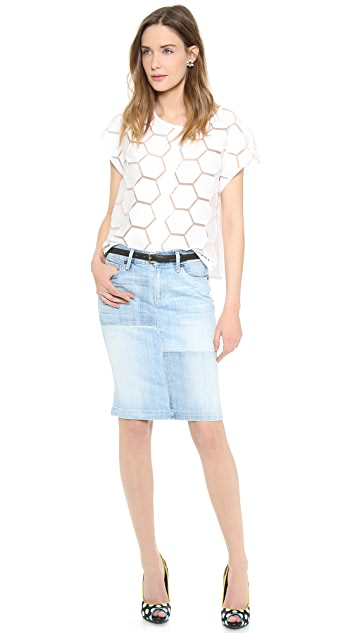 Milly Short Sleeve Button Down Shirt