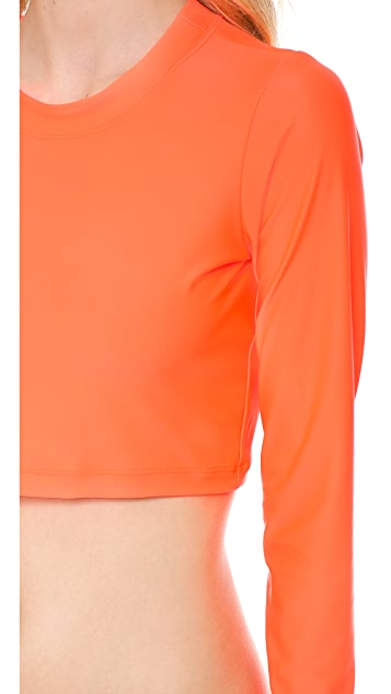 Milly Cropped Long Sleeve Rash Guard