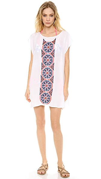 Milly Cape Creton Embroidered Cover Up