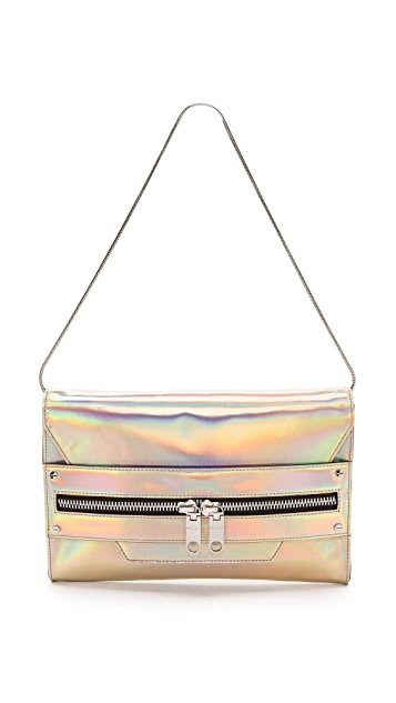 Milly Demi Hologram Oversized Clutch