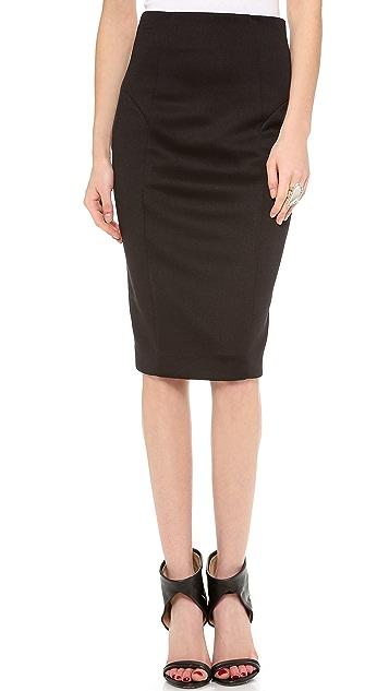 Milly High Waisted Pencil Skirt