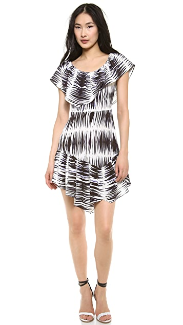 Milly Asymmetrical Ruffle Dress