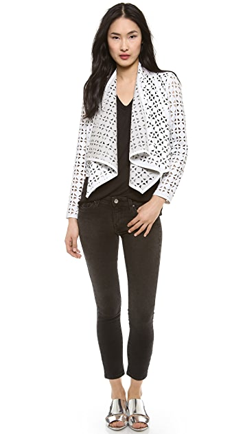 Milly Laser Cut Leather Jacket