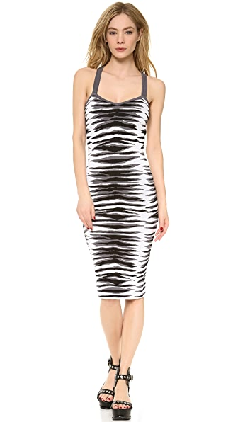 Milly Ikat Jacquard Fitted Midi Dress