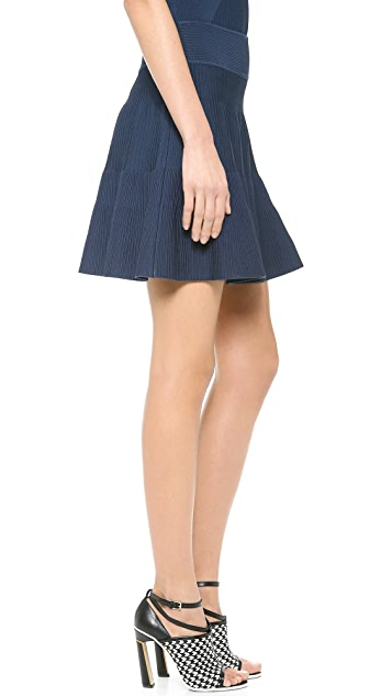 Milly Stretch Flare Skirt