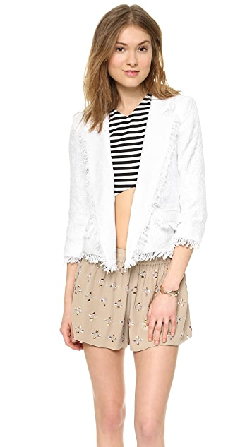 Milly Double Breasted Cropped Blazer