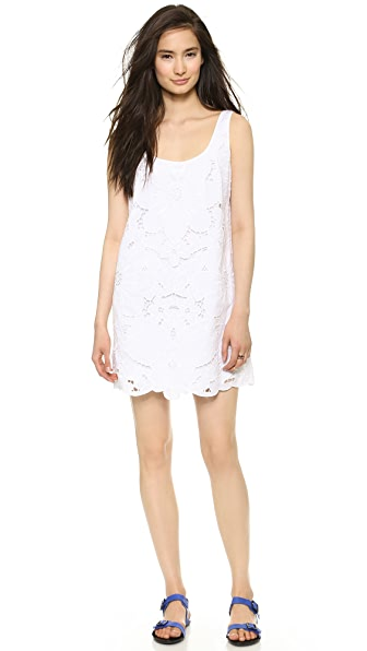 Milly Embroidered Tank Dress