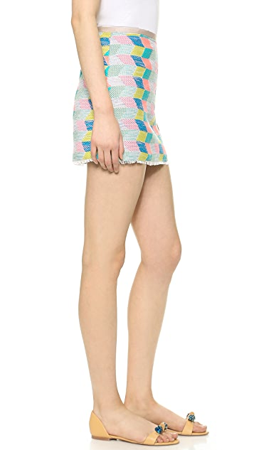 Milly Chevron Miniskirt