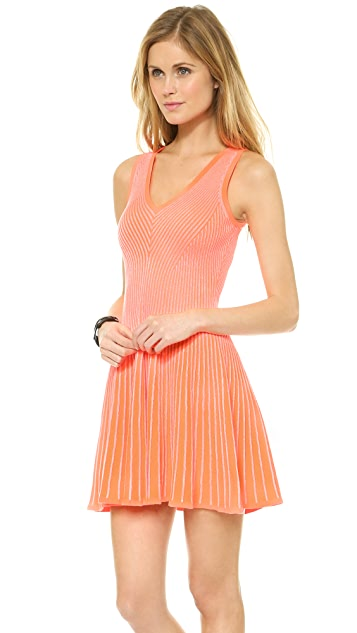 Milly Rib Stretch Flare Dress