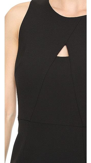 Milly A Line Peek-A-Boo Sheath Dress