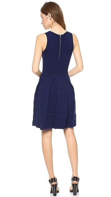 Milly Ottoman Pleated Stretch Dress