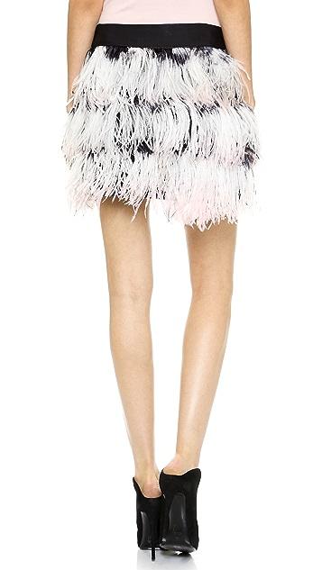 Milly Feather Miniskirt