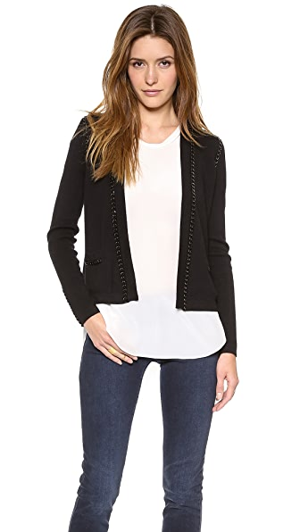Milly Chain Trim Cardigan