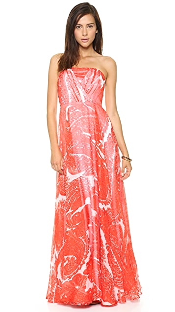 Milly Strapless Chiffon Gown