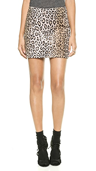 Milly Cheetah Mini Skirt